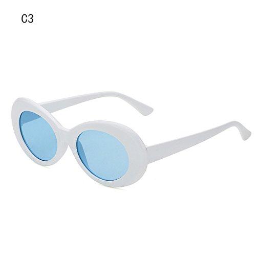 Sol Gafas Ovalada 2018 de Nueva la Gafas Anteojos Sra de Moda Sol C3 Mujer Men's Forma ZHANGYUSEN Designer Retro de C3 nTWSwqYZw
