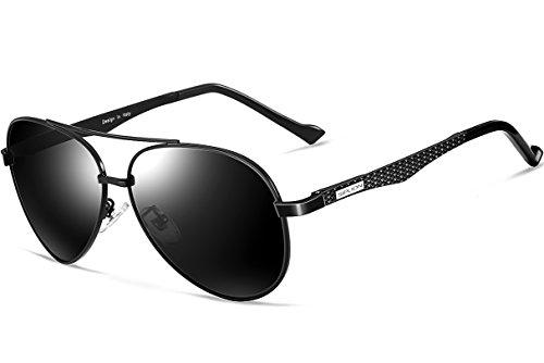 SIPLION Mens Aviator Sunglasses For Men Women Polarized Lens Al Mg Metal Frame