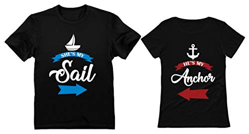 Shes My Sail Hes My Anchor Matching Couples T-Shirts