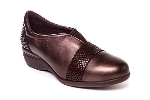Doctor Ville Lacets Cutillas À Marron Chaussures Femme Pour De rXrftw