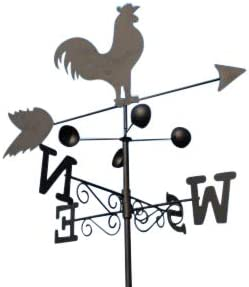 Veleta - Veleta de acero con diseño de gallo - Incluye piqueta y fijación para pared.: Amazon.es: Jardín
