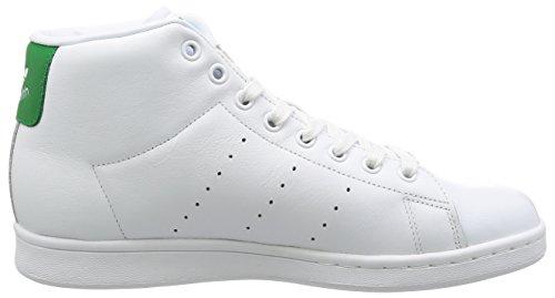 adidas Stan Smith Mid, Zapatillas Altas para Hombre Blanco (Ftwr White/ftwr White/green)