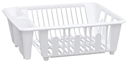 Genial United Solutions SK0001 White Plastic Sink And Kitchen Dish Rack   Mini  Plastic Kitchen Dish Rack