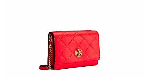 Tory Quilted Dahlia Pink Bag Leather Georgia Crossbody Burch Mini xxATnva