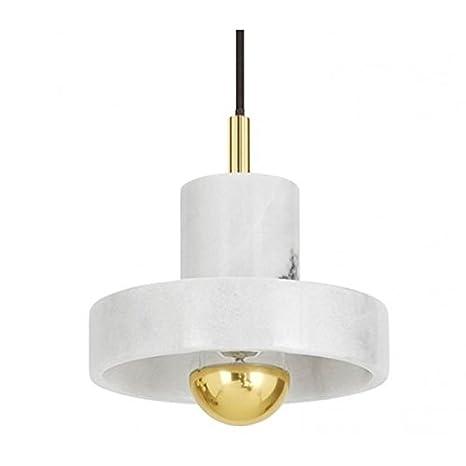 Tom Dixon Stone - Lámpara de techo, latón color blanco no ...