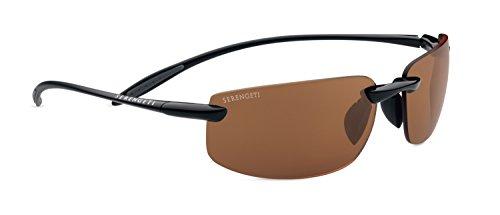Serengeti Sport Lipari Sunglasses, Polar PhD Drivers, Shiny Black/Black - Driving Serengeti Glasses