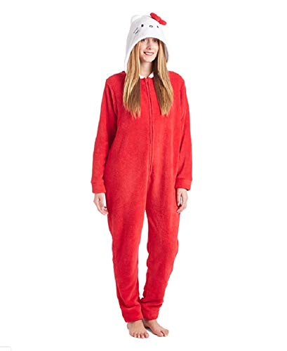 e Bow City Hooded Jumpsuit Women's (1X, Red) ()
