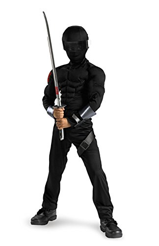 [Snake Eyes Classic Muscle - Size: Child S(4-6)] (Cobra Snake Halloween Costumes)