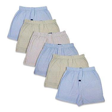 Joseph Abboud Men's 6 Pack Full Cut Cotton Boxers Sleep Shorts (Medium, (Full Cut Boxer Shorts)
