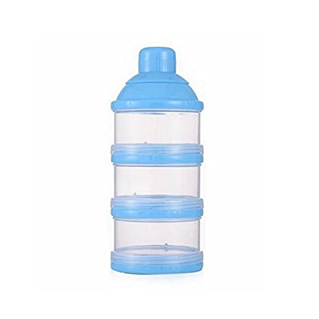 LeisialTM Bebé Infantil Botella del Leche Dispensadora de Leche Polvo Caja del Alimento Caja Transparente Portátil 3 Capas: Amazon.es: Hogar