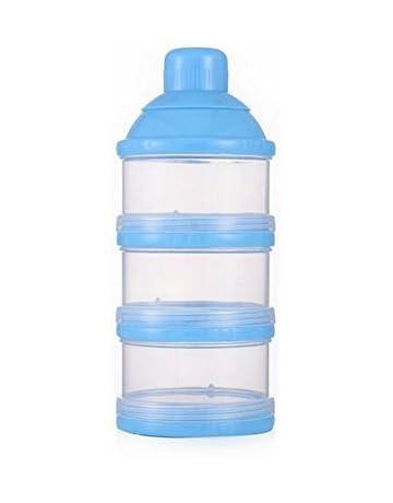 Kanggest Multicolor Botella de 3 Capas para Bebé Comida Caja de Leche en Polvo Caja Transparente