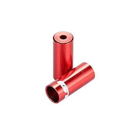 Gub 100 Pcs Per Bottle 6 Colors CNC Alloy Road Mountain Bicycle Bike 5mm Brake Cable Cap End Tips Crimp
