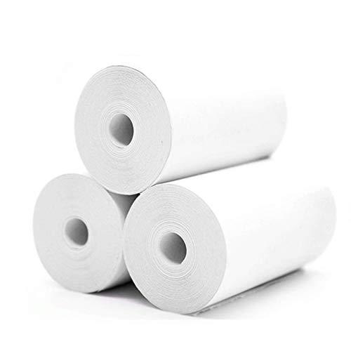 Peanutaoc 3 Rollos de Papel Adhesivo para Impresora de ...