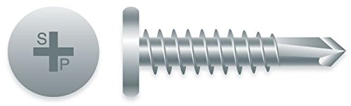 #10 x 5/8'' Phillips Pancake Head ZINC Plated SELF-Drilling Screws 8M Box by STRONG-POiNT