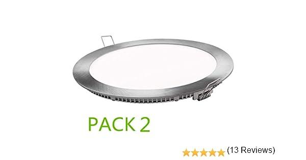 Placa LED SuperSlim Redondo 20W (Pack 2) Downlight Panel LED ...