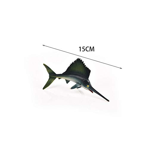 Lanlan Niños simulación mar Animal Modelado colección Juguete Interesante decoración del hogar S481 pez Espada Grande