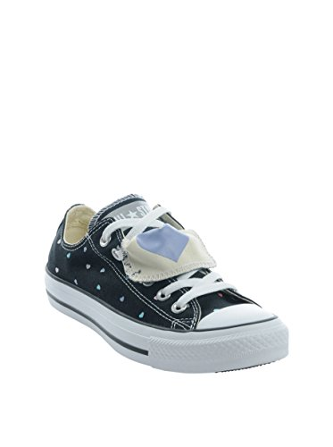 Converse Ctas Slip On Ox, Zapatillas Unisex Adulto Negro (Double Tongue - Black)