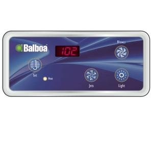 Balboa BB51223 VL404, 4 button LED Topside (Duplex Digital Panel 1 Jet)