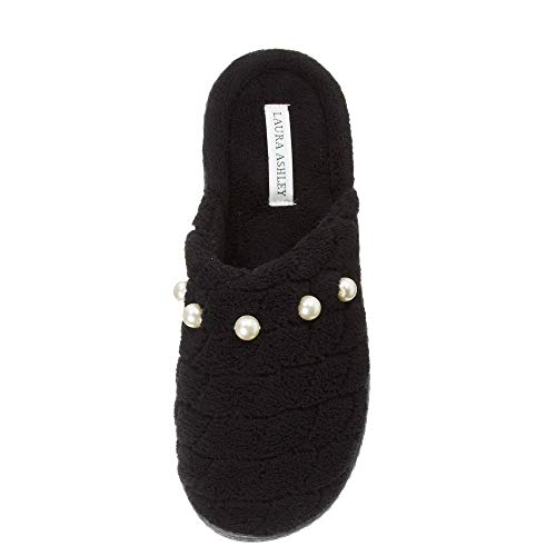 Laura Ashley Womens Foam Scallop Colors Black Pearl Scuffs Rugged Memory See Sizes rraOdRq7