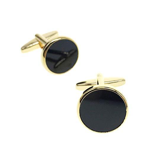 - Cuff-Arts Cufflinks for Men Black Onyx Classic Cufflinks with a Gift Box C20093