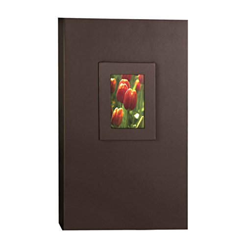 KVD Albums 4x6 Photo Album, Fits 300 Pictures With Window Frame Cover Brown