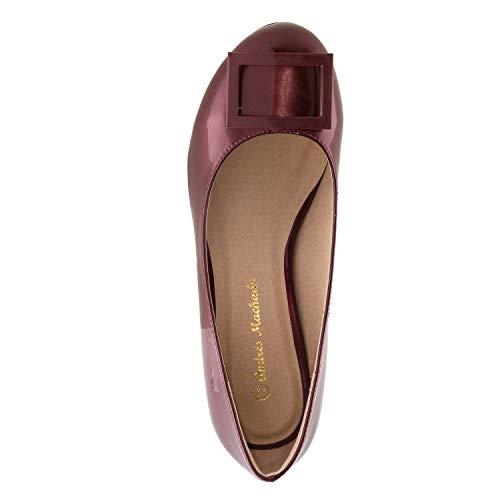 45 Et 32 42 Différents 35 Femmes Bordeaux chaussures Coloris Pointures Andres Grandes am5317 Petites Pour Machado Vernies ZSqCg