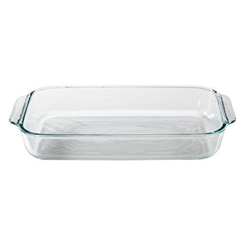 Pyrex Basics 3 Quart Glass Oblong Baking Dish Clear 8.9 Inch X 13.2 Inch - 3 Qt ;supply_by_thegrandmarket ()