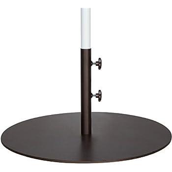 Abba Patio 55 Lbs Round Steel Market Patio Umbrella Base 27.4 Inch Diameter  Umbrella Stand Weights