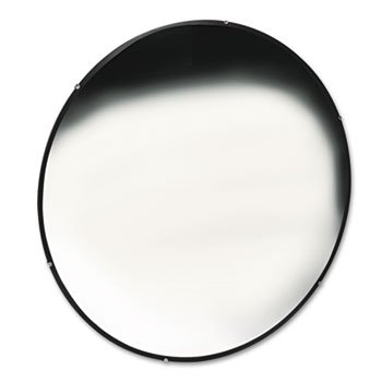 See All Indoor Convex Safety Mirror - 36in. Dia., Glass, 40-Ft. View, Model# N36 by SeeAll