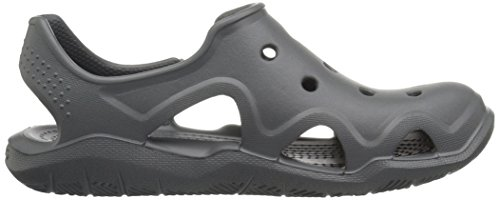 Green Grey Bambini Crocs Slate Sandali A tennis – Chiusa Punta Unisex Wave Swiftwater Ball OTOqv1