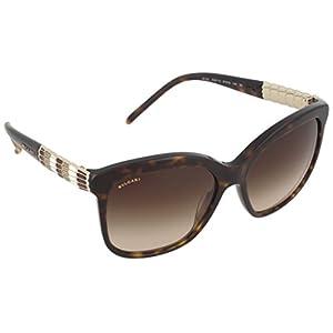 Bvlgari BV8155 Women's Serpenti Sunglasses, Dark Tortoise Frame, Brown Gradient 57mm Lenses
