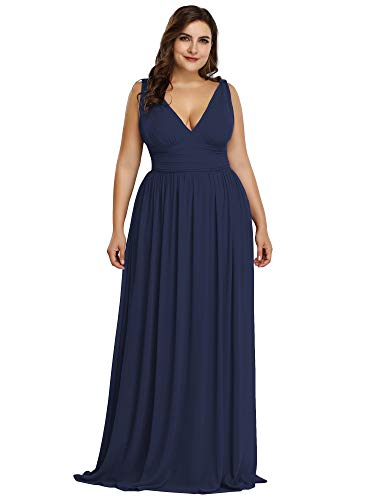 Ever-Pretty Womens Empire Waist Elegant Formal Evening Homecoming Dresses Navy Blue US 22