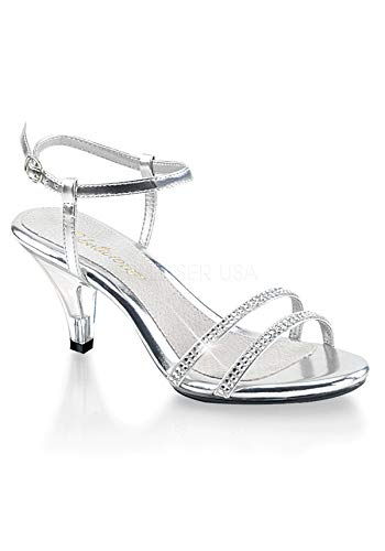 (Pleaser Women's Belle 316 Sandal,Silver/Clear,5 M US)
