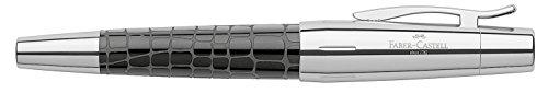 Faber-Castell Design E-Motion Precious Resin Crocodile Black Fountain Pen - Medium Nib 148230