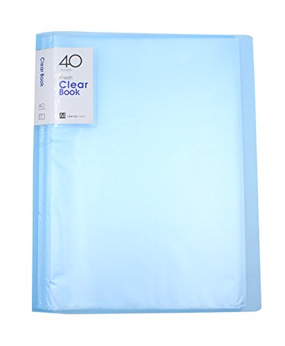 Clear File Folders Protector Presentation Book Organizer Binder Office School Supplies for A4 Size Paper, 40 Sheets -