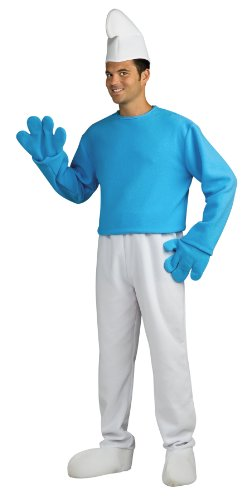 Rubie's Costume The Smurfs 2 Adult Deluxe Smurf, Blue/White, X-Large Costume -