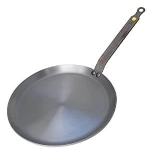 DeBuyer Mineral B Element Iron Crepe Pan, Round
