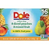 Expect More Dole Diced Peaches with Mixed Fruit (4 oz, 16 ct.)