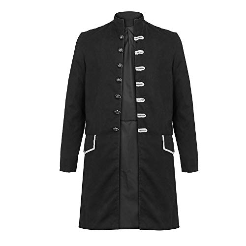 Cardigan Single (Northern Men Formal Coat Classic Long Sleeve Embroidery Single Breasted Birthday Wedding Party Jacket Cardigan)