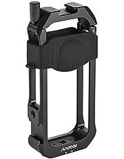 Andoer C-ONE X2 beschermcamerabehuizing van aluminiumlegering met koudeschoenhouder universele 1/4 inch schroefdraad camerahouder met vervangingswerking voor Insta360 ONE X2
