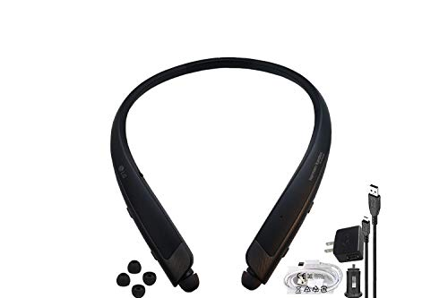 LG HBS-1120 TONE Platinum SE Bluetooth Wireless Stereo Headset- with Car/Wall Charger USB, Ear Gels (Renewed)