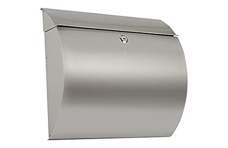 Arregui E5405-12 Buzón para exterior (acero inoxidable), Gris, 330 x 375 x 105 mm