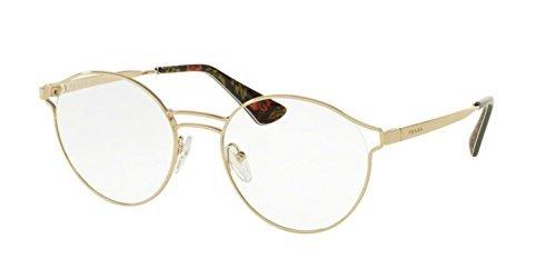 cc0ec7135ad3 Prada Women's PR 62TV Eyeglasses Pale Gold 50mm at Amazon Women's ...