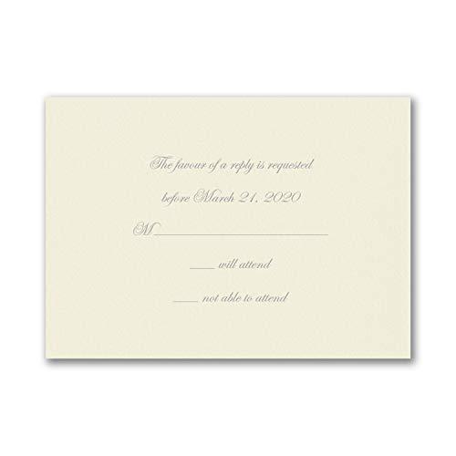 250pk Response Card and Envelope - Ecru-Shop All Wedding