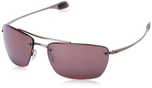 Kaenon Men's Spindle 5 Polarized Rimless Sunglasses, Antique Copper, 65 mm