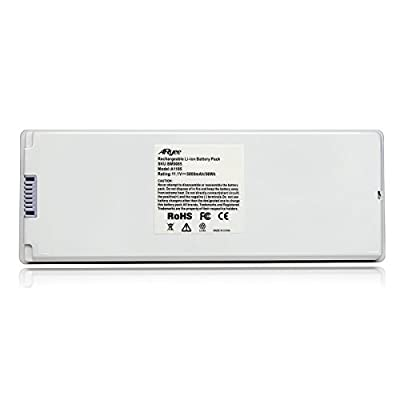 """A1185 Battery Laptop Macbook Battery White Power Replacement for 13""""MacBook Pro(2006&2007) Fits MA561, MA561FE/A, MA561G/A, MA561J/A, MA561LL/A [10.8v 56Wh] ARyee"""