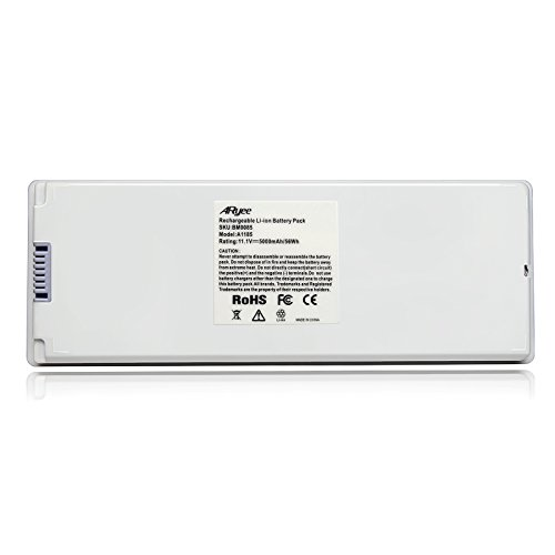 Macbook Rechargeable White Battery - ARyee 95Wh A1185 Laptop Battery Replacement for Apple MacBook 13