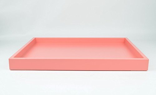 Large Coffee Table Tray Coral Pink