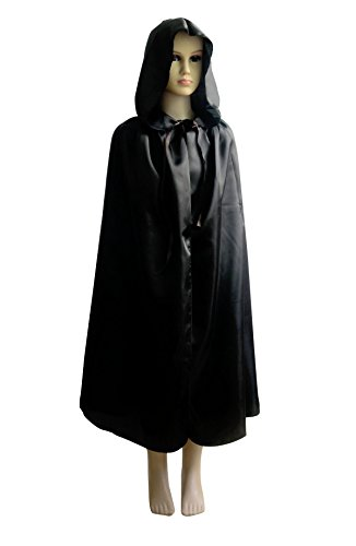 [Shapenty Child Christmas Halloween Party Devil Death Hooded Cloak Vampire Costumes Capes for Kids (Medium,] (Kids Halloween Devil Costumes)