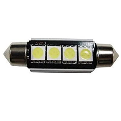 iJDMTOY 4-SMD Error Free 6411 578 LED Bulb Compatible With Car Interior Dome Light or Trunk Area Light, Ultra Blue: Automotive